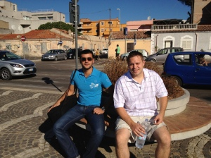 James and Eli in Olbia