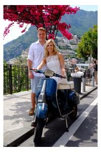 Positano Engagement Photo